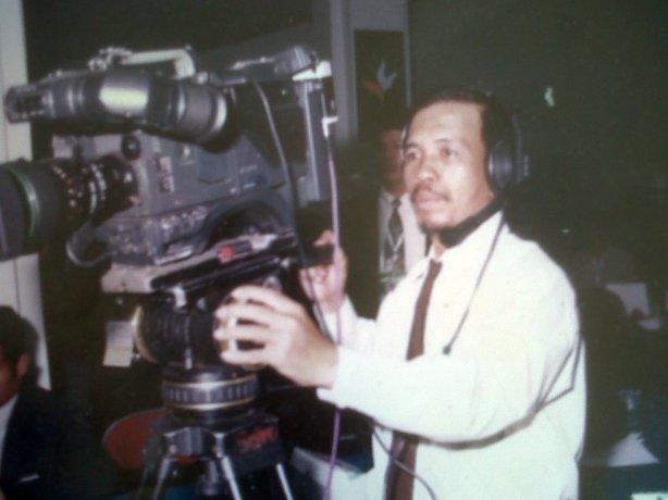 Haji Abdul Wahid ketika belajar jurnalis TV/Ft: dok